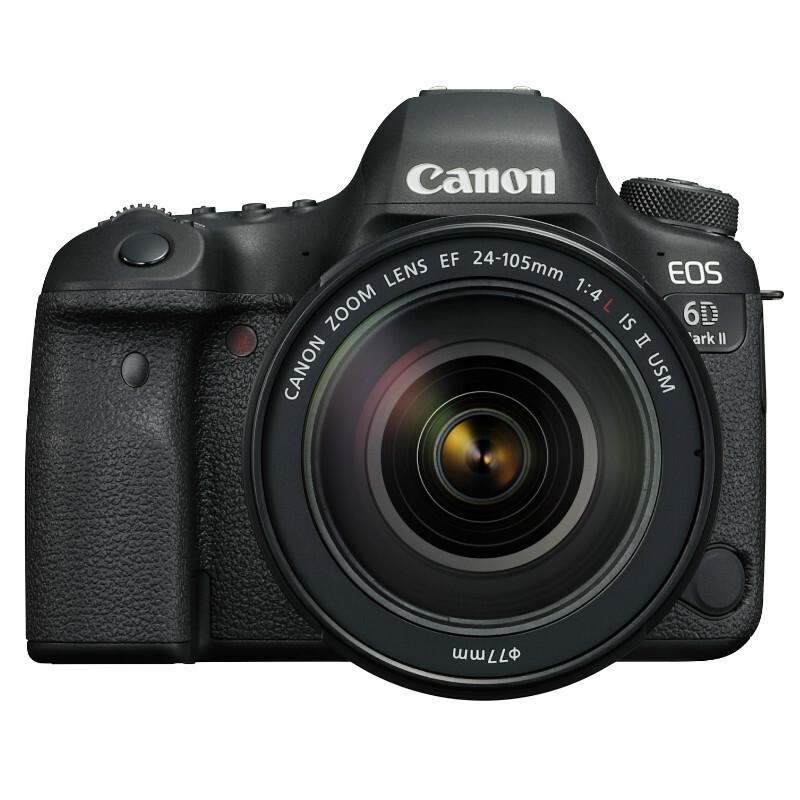 佳能(Canon) EOS 6D Mark II 单反套机 约2620万有效像素 自动对焦 无内置存储 含EF 24-105mm f/3.5-5.6 IS STM镜头 加配闪迪64G 95M/S SD卡+相机包 一年保修 黑色