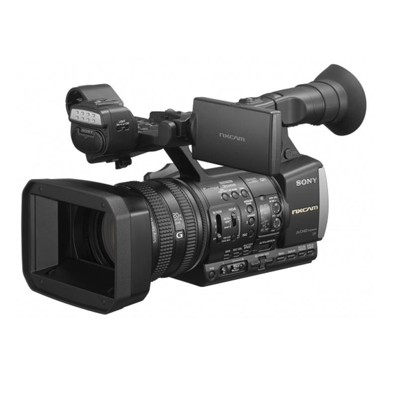 索尼(SONY)HXR-NX3专业数码高清摄像机(滤镜+电池2个+三脚架+内存卡+读卡器+清洁套装+高清线+膜+包+地轮)
