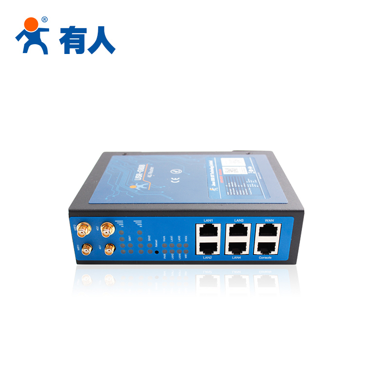 有人物联网双卡LTE无线路由器USR-G808-33