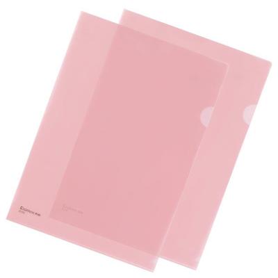 齐心(Comix)E310两页文件套A4二页文件夹红色半透