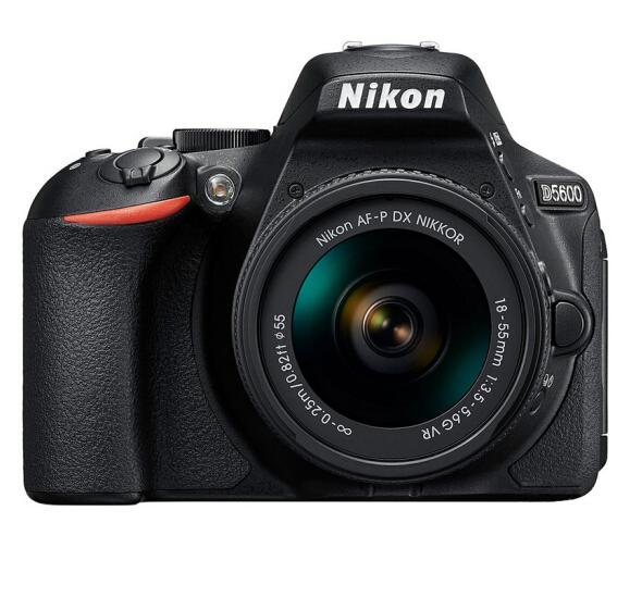尼康(Nikon)D5600 单反相机 数码相机 (AF-P DX 尼克尔 18-55mm f/3.5-5.6G VR 单反镜头)