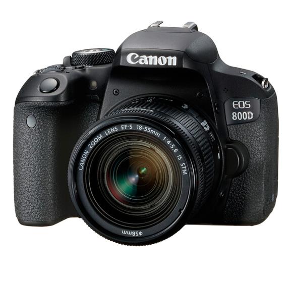 佳能(Canon)EOS 800D 单反相机 单反机身 单反套机 (EF-S 18-55mm f/4-5.6 IS STM 单反镜头)+闪迪(SanDisk)128GB SD存储卡+户外摄影包