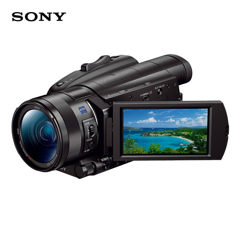 索尼(SONY)摄像机 FDR-AX700 4K HDR(闪迪128G卡+多1个索尼原装电池+索尼原装包+沣标三脚架+沣标读卡器+沣标清洁套装)